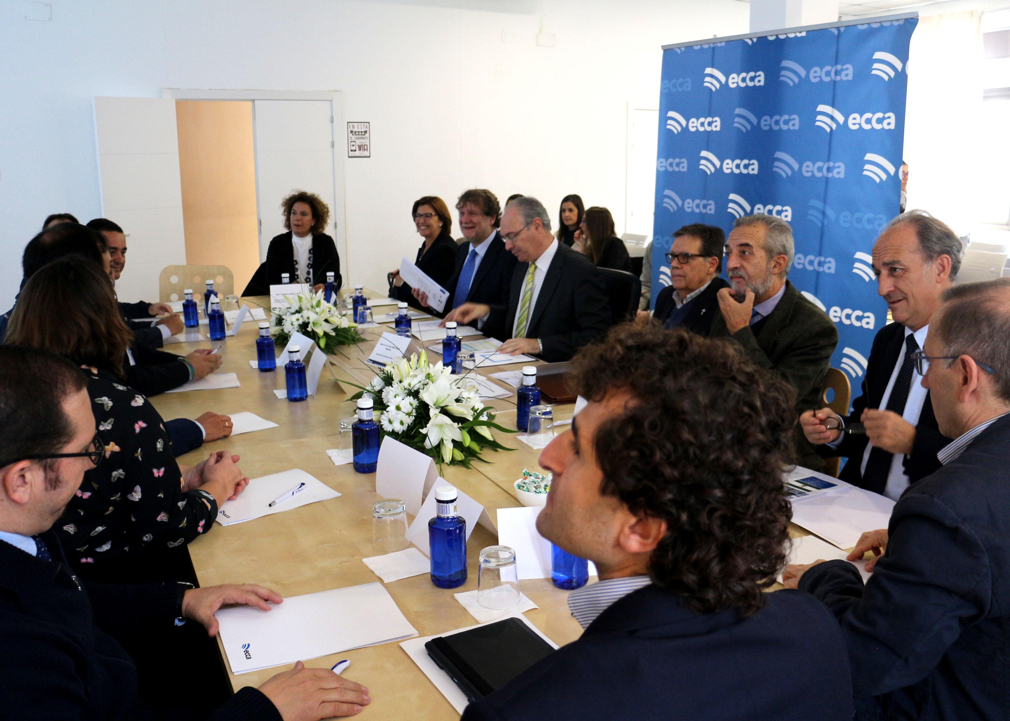 El presidente del Parlamento, en la constitución del Consejo Asesor de Radio ECCA en Sevilla